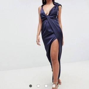 ASOS drape satin dress